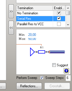 Altium series termination dialog