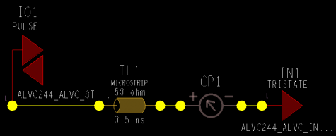 Cadence schematic for the input current simulation